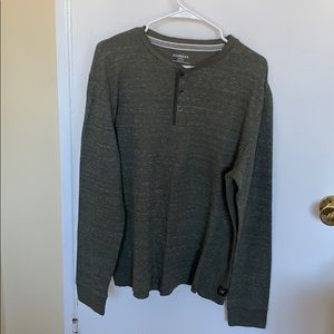 Olive green thermal Henley